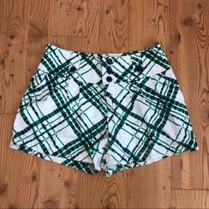 Hei hei green white higher waist short Sz 4